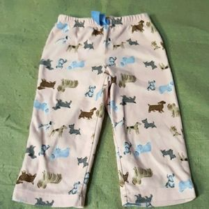 Carter's dog pajama bottoms